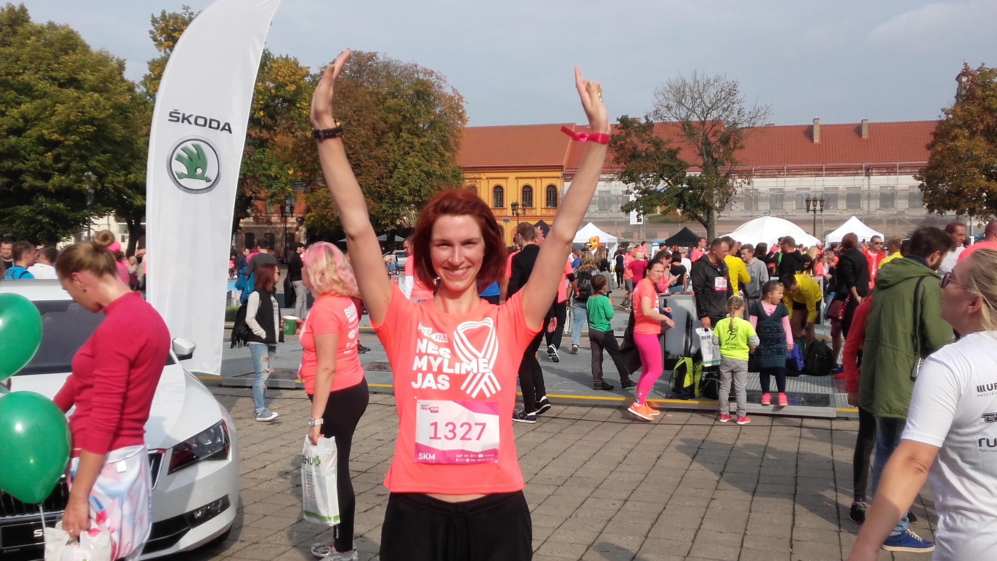Moments of PinkRun 2016 in Kaunas